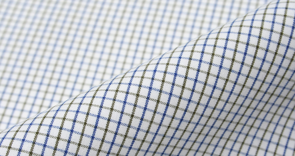 blue green peached tattersall shirts by proper cloth