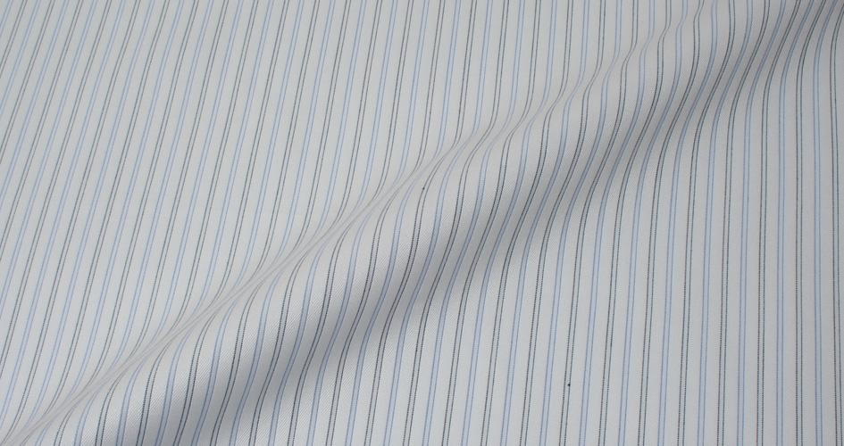Light Blue Grey Dobby Stripe