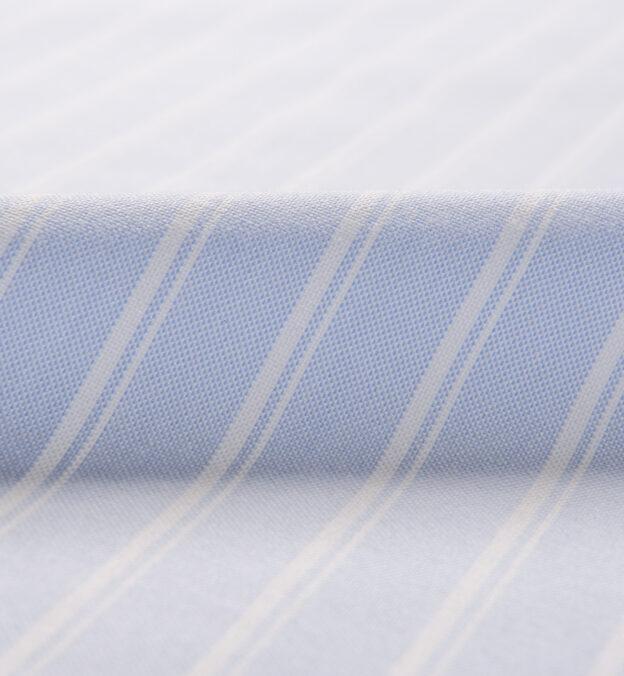 American Pima Light Blue Vintage Stripe Heavy Oxford