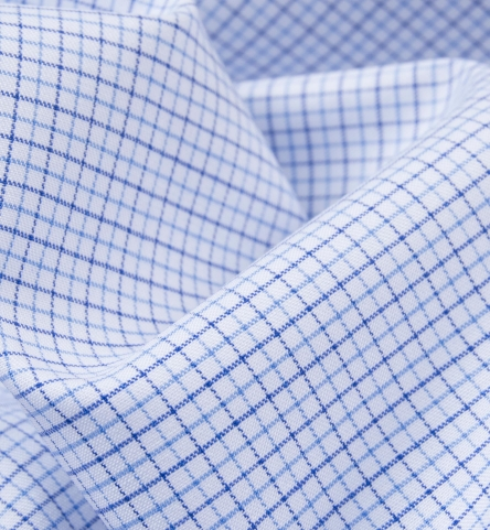 albini blue mini tattersall shirts by proper cloth