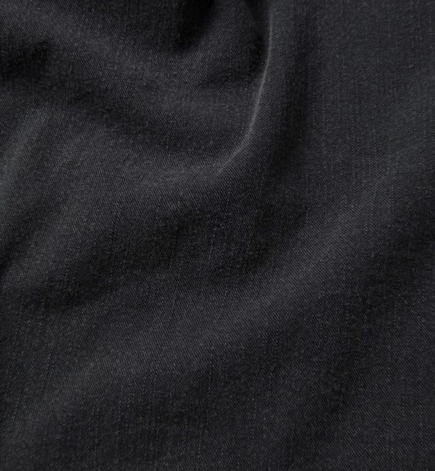 Albiate Washed Black Slub Denim