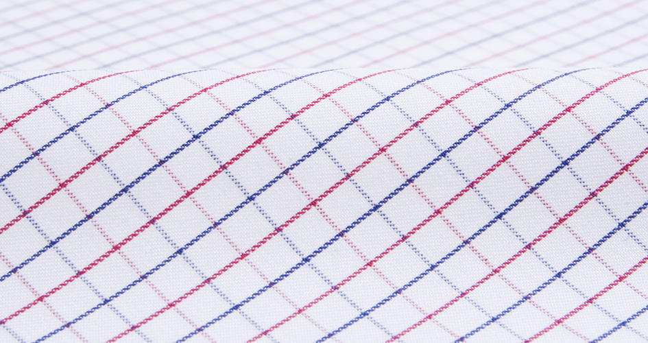 albini red and blue large tattersall shirts by proper cloth