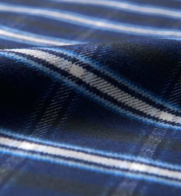 Whitney Navy and Royal Blue Plaid Flannel