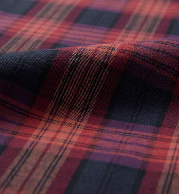 Red and Navy Plaid Flannel
