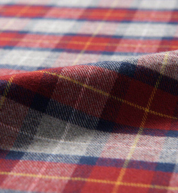 Red and Grey Tartan Flannel