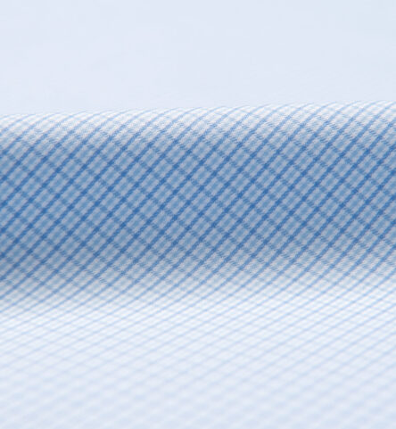 Performance Light Blue and Blue Micro Check