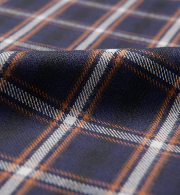 Whitney Navy and Rust Plaid Flannel