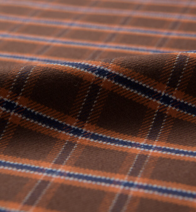 Whitney Brown and Rust Plaid Flannel