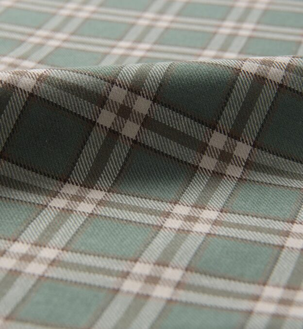 Mesa Fatigue and Brown Cotton Linen Plaid