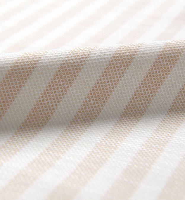Amalfi Beige Tonal Wide Stripe Pique