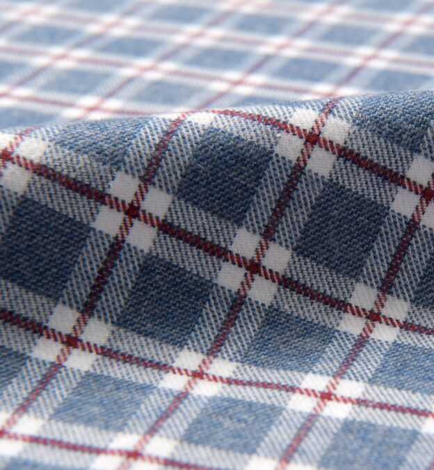 Blue and Red Check Flannel