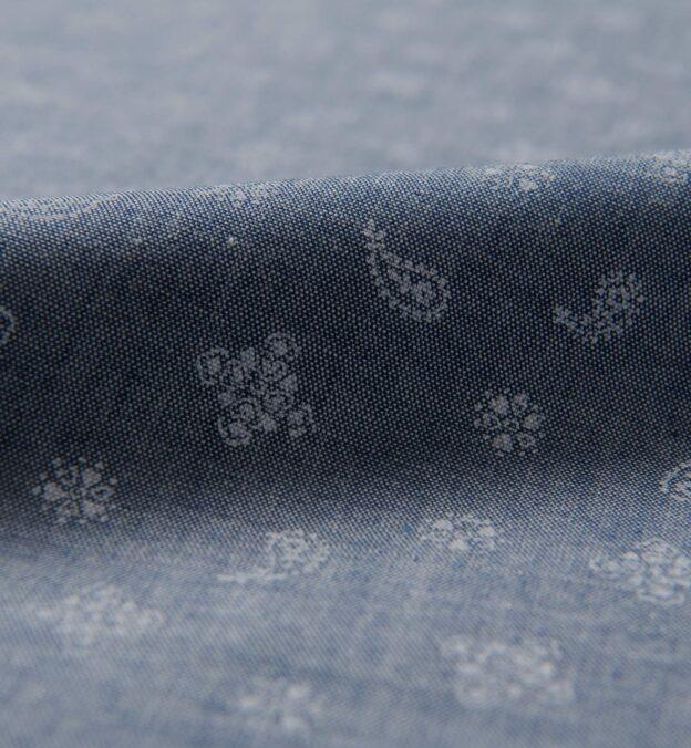 Slate Blue Chambray Bandana Print
