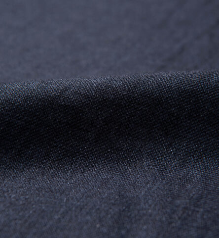 Albini Washed Navy Linen Twill