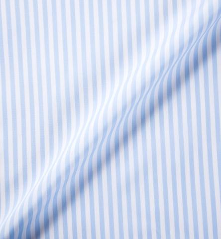 Canclini Light Blue Awning Stripe Shirts By Proper Cloth
