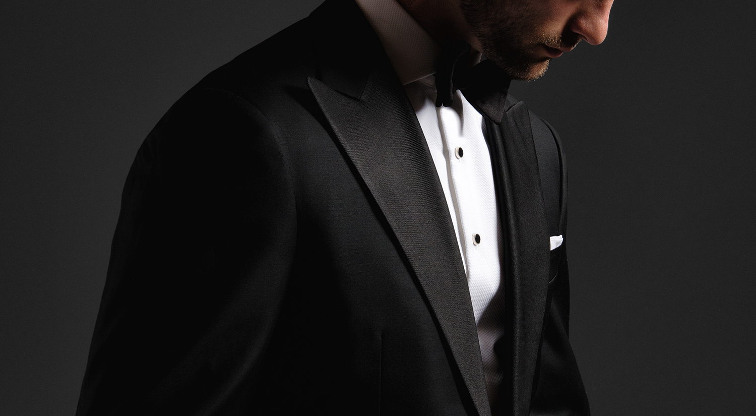 Custom Tuxedo Shirts and Black Tie