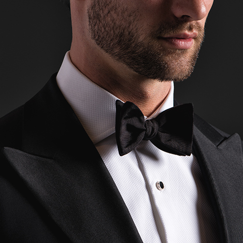 Pique Bib Front Tuxedo Shirt Detail