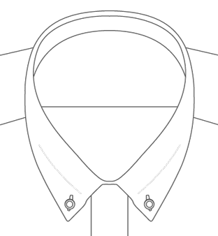 Colorado Button Down Collar Diagram