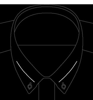 Colorado Button Down Collar Diagram