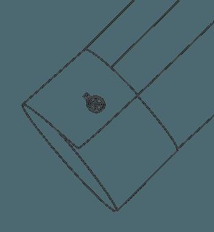 Convertible Square Cuff Diagram