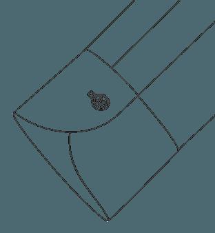 Long One Button Cuff Diagram