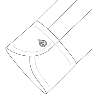 Soft Long One Button Cuff Diagram