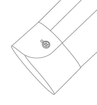 One Button Barrel Cuff Diagram