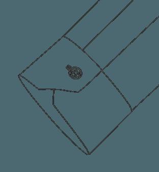 One Button Mitered Cuff Diagram