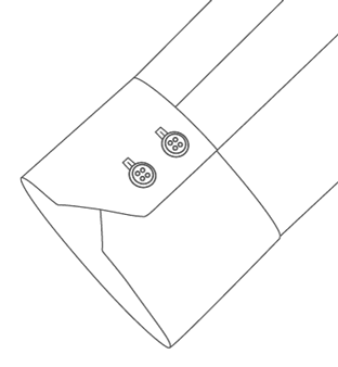 Two Button Mitered Cuff Diagram