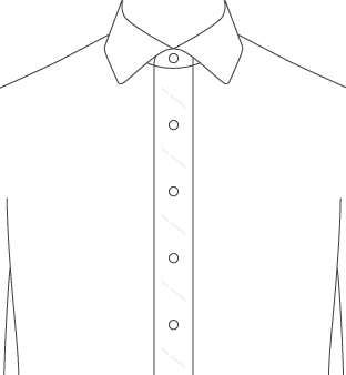 Soft Wide Front Placket Diagram