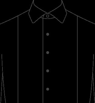 Tuxedo Front Pique Diagram