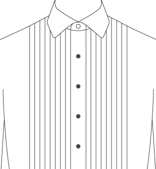Tuxedo Front Pleated Diagram