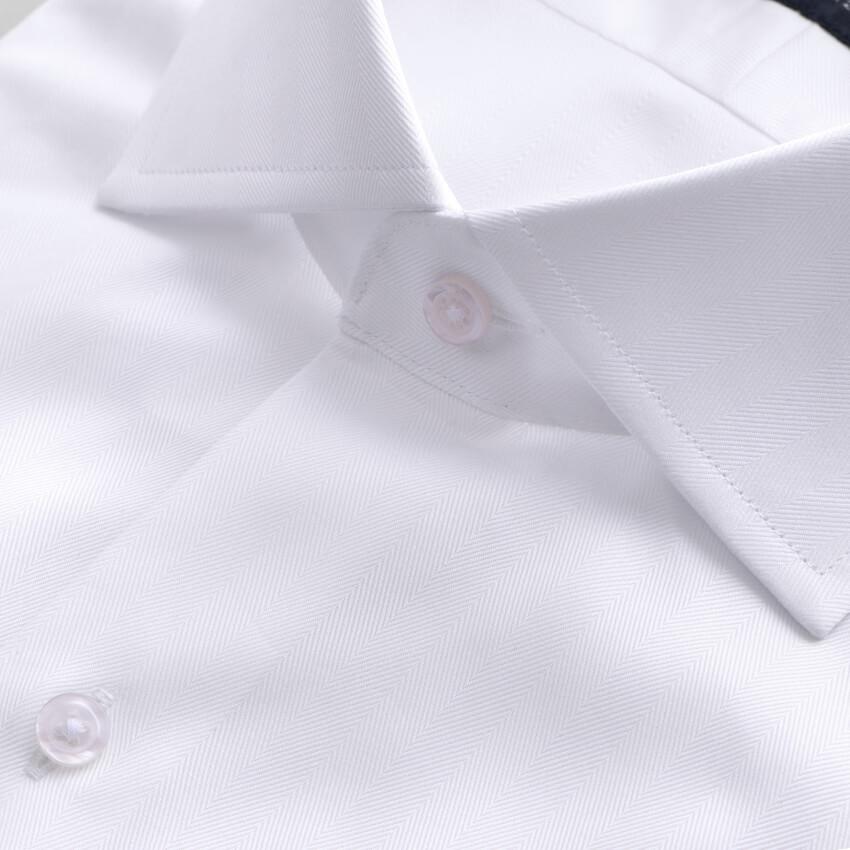 Thomas Mason Goldline Collar Closeup