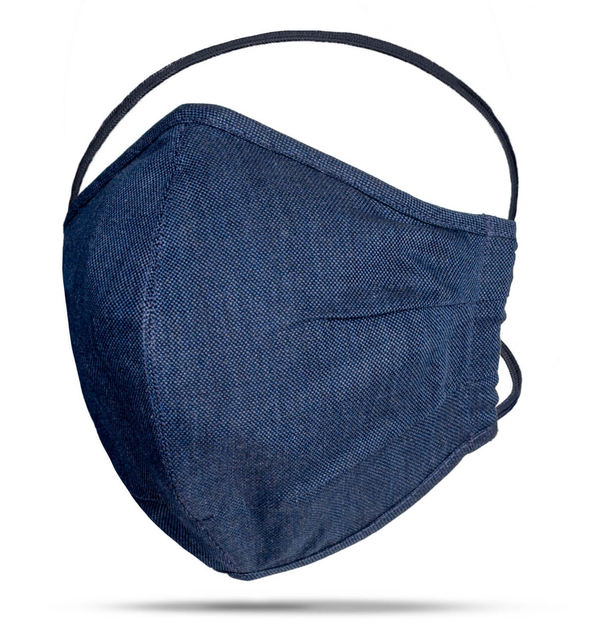 Face Mask with Navy Colored Fabric Detail Photo