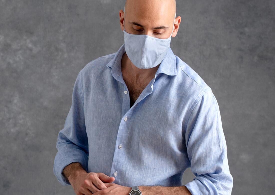 Facemask Being Worn