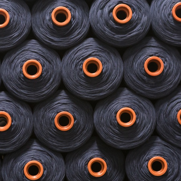 Dyed Wool on Spools at Reda Mill