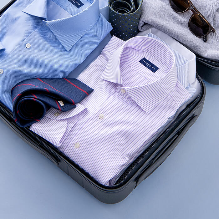 Our non-iron shirts are perfect for travel