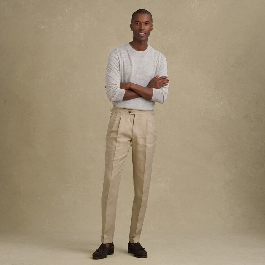 Look: The Pleated Trouser