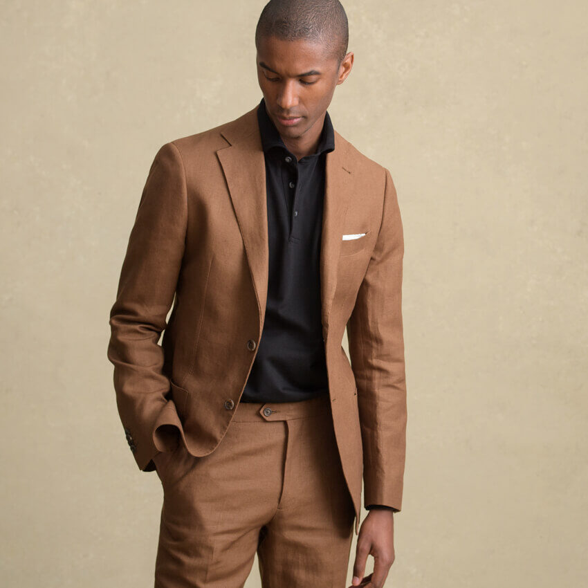 The Linen and Wool Suit On-Figure Look