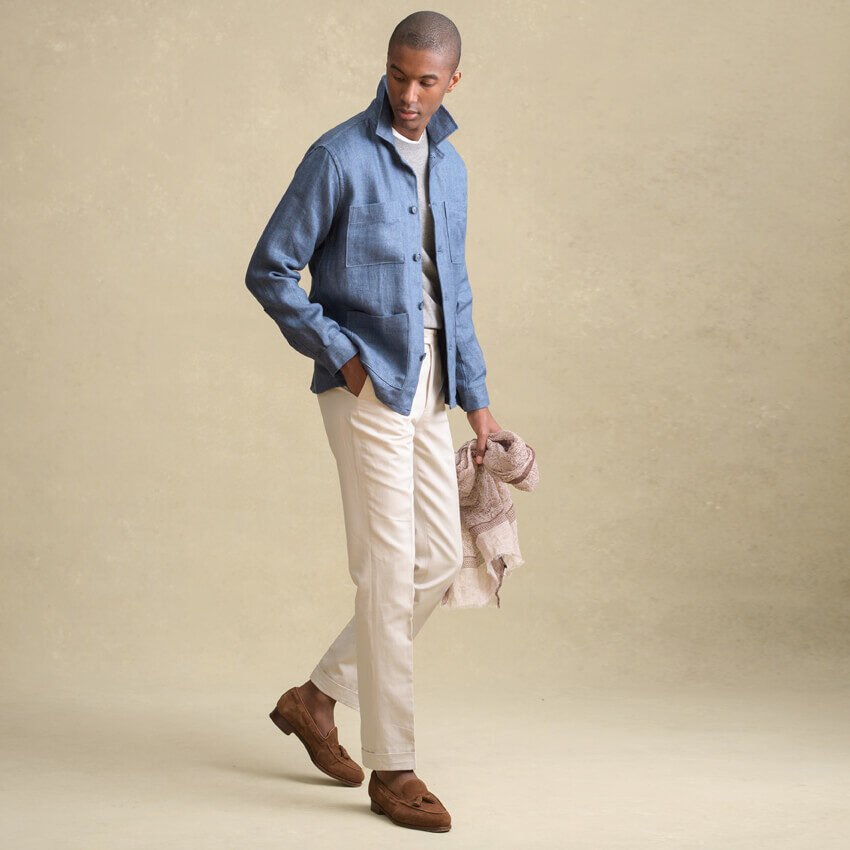 Look: The Linen Shirt Jacket
