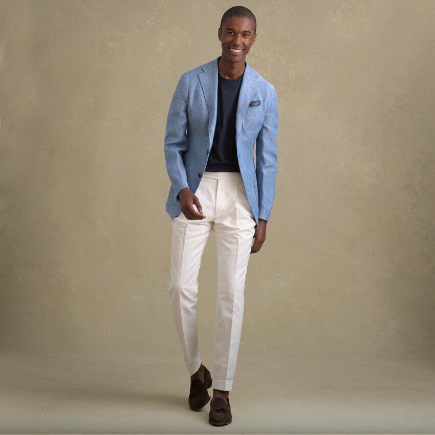 Look: The White Trouser