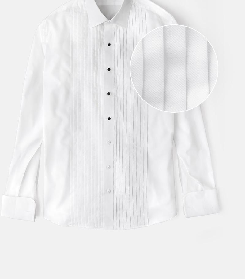 Tuxedo Shirt Pleated
