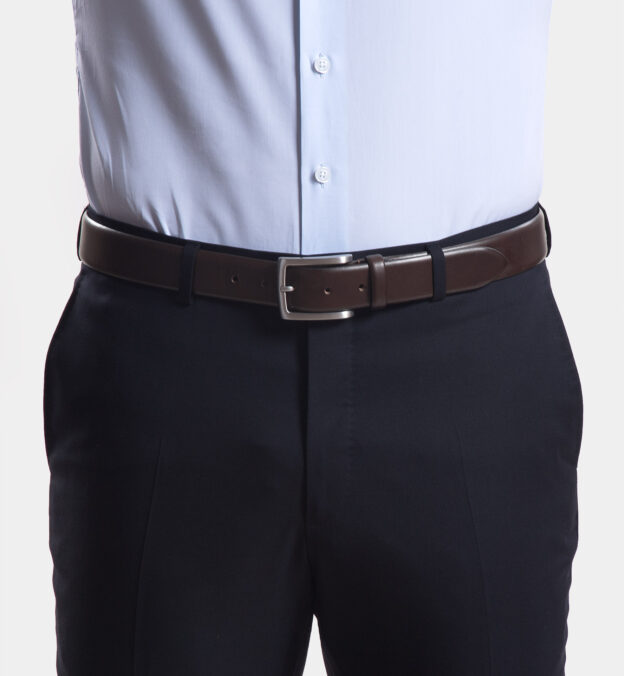 Walnut Vachetta Leather Belt