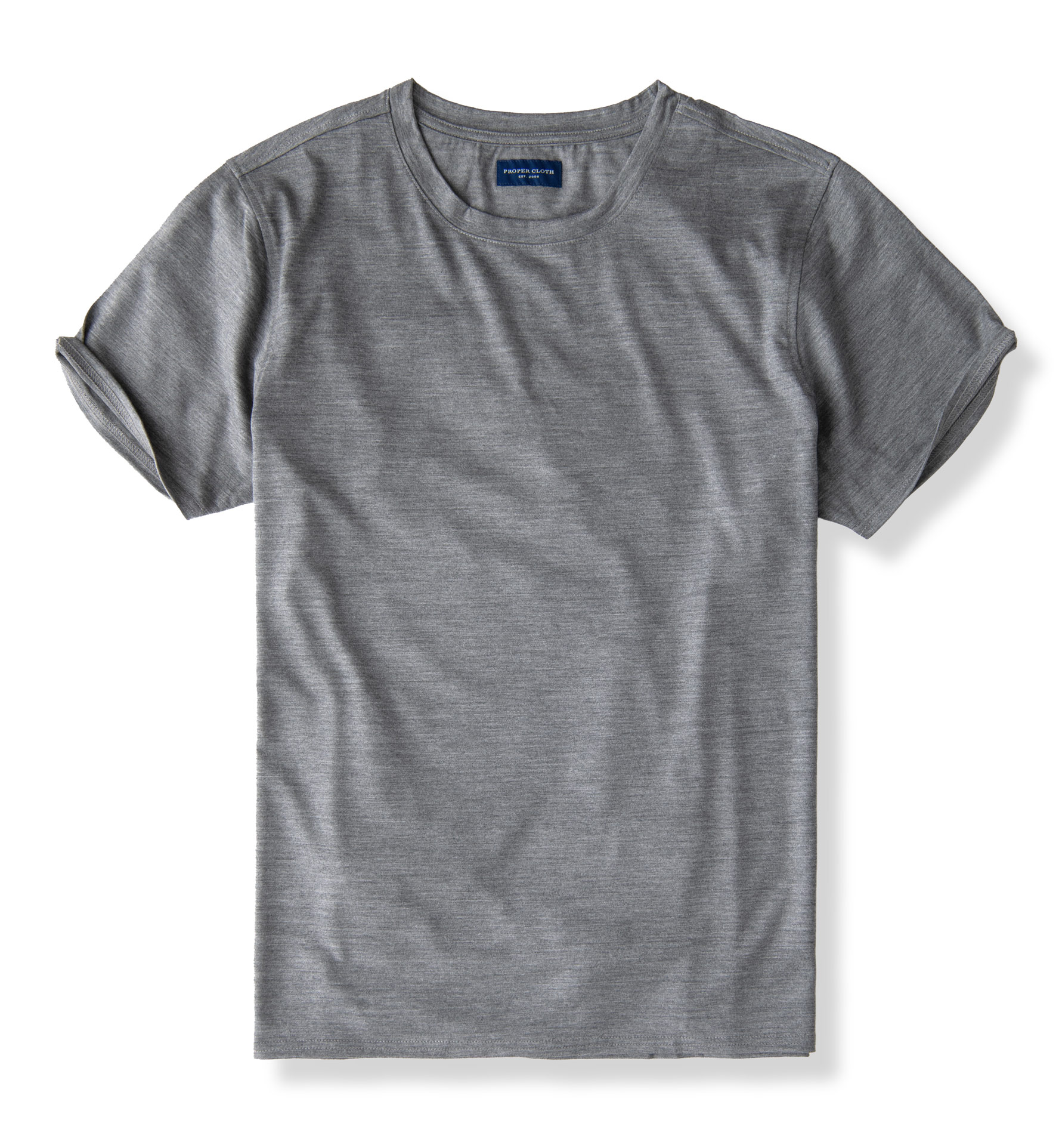 Zoom Image of Pewter Merino Wool Crewneck T-Shirt