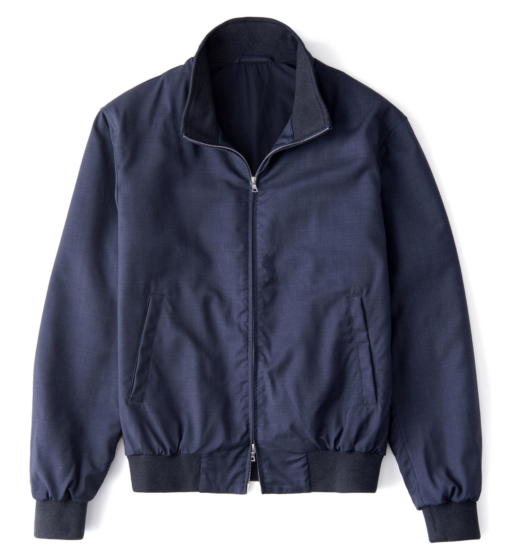 Zoom Image of Lucca Slate Blue Merino Wool Jacket