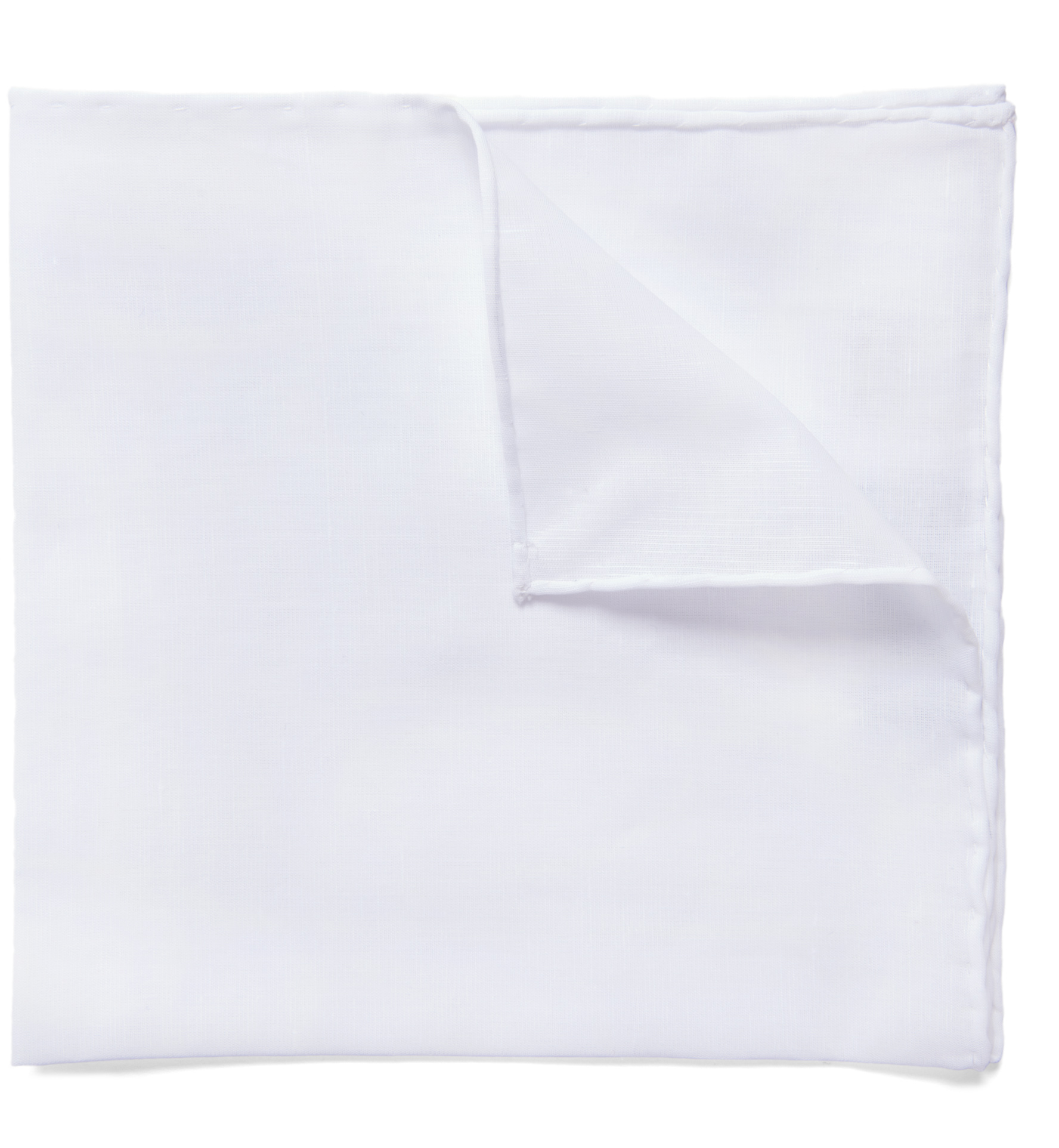 Zoom Image of Essential White Cotton Linen Pocket Square
