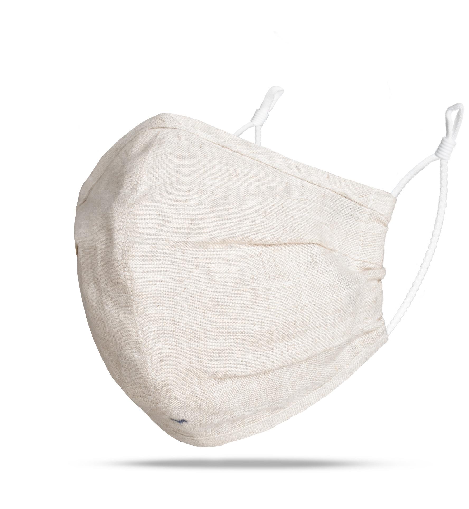 Zoom Image of The Everyday Mask v1.4E - Beige Linen (Single Mask)