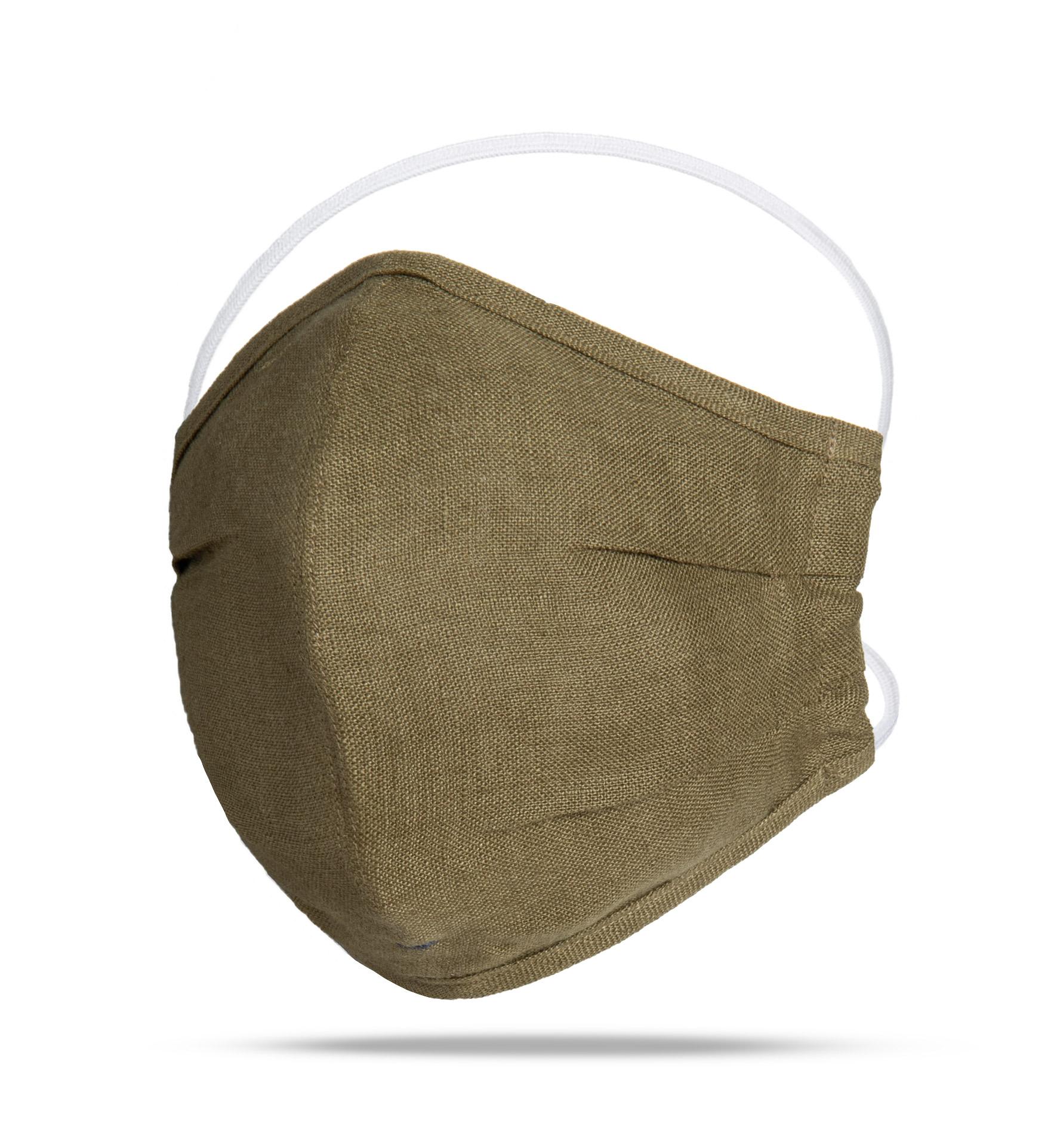 Zoom Image of The Everyday Mask v1.3 - Olive Linen (Single Mask)