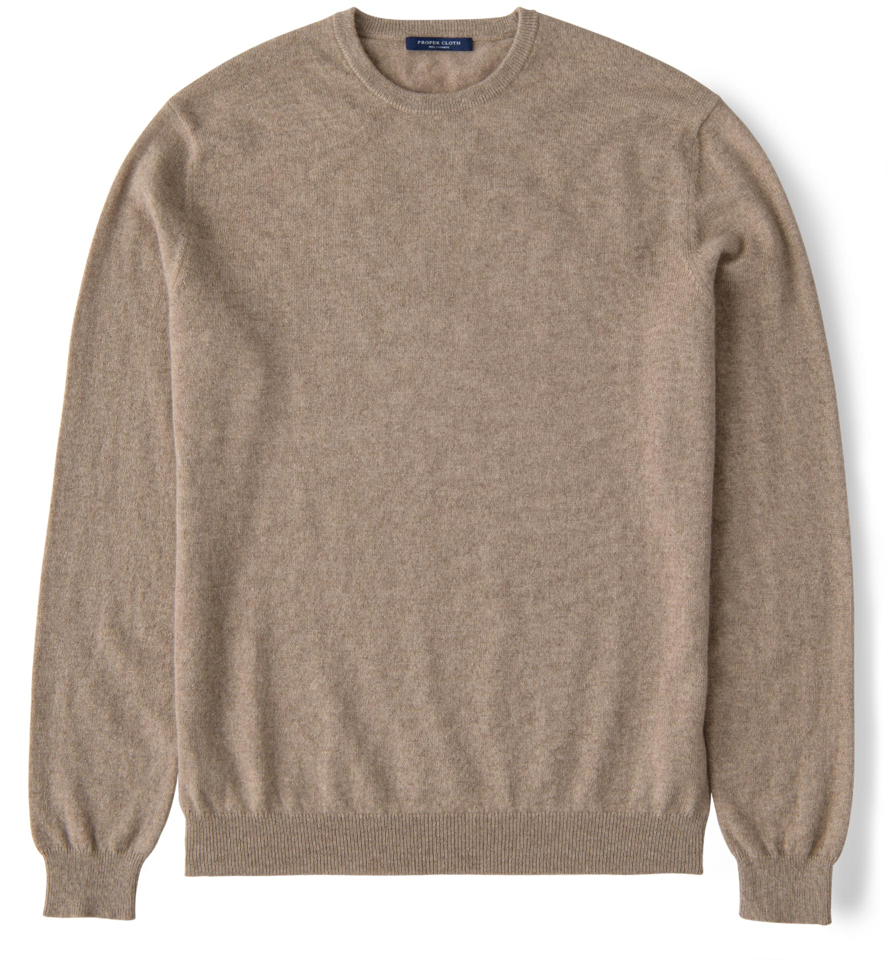 Zoom Image of Natural Taupe Cashmere Crewneck