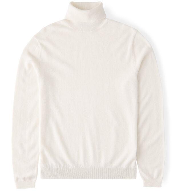 Off White Cashmere Turtleneck