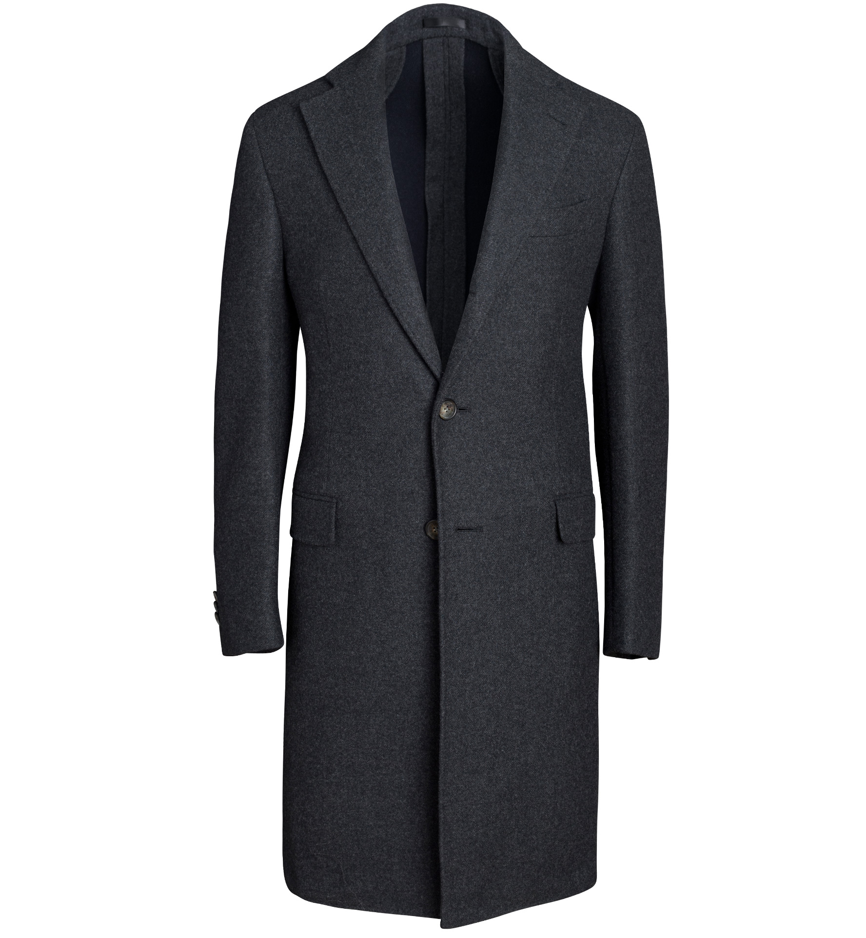 Zoom Image of Bowery Charcoal Wool Unstructured Coat